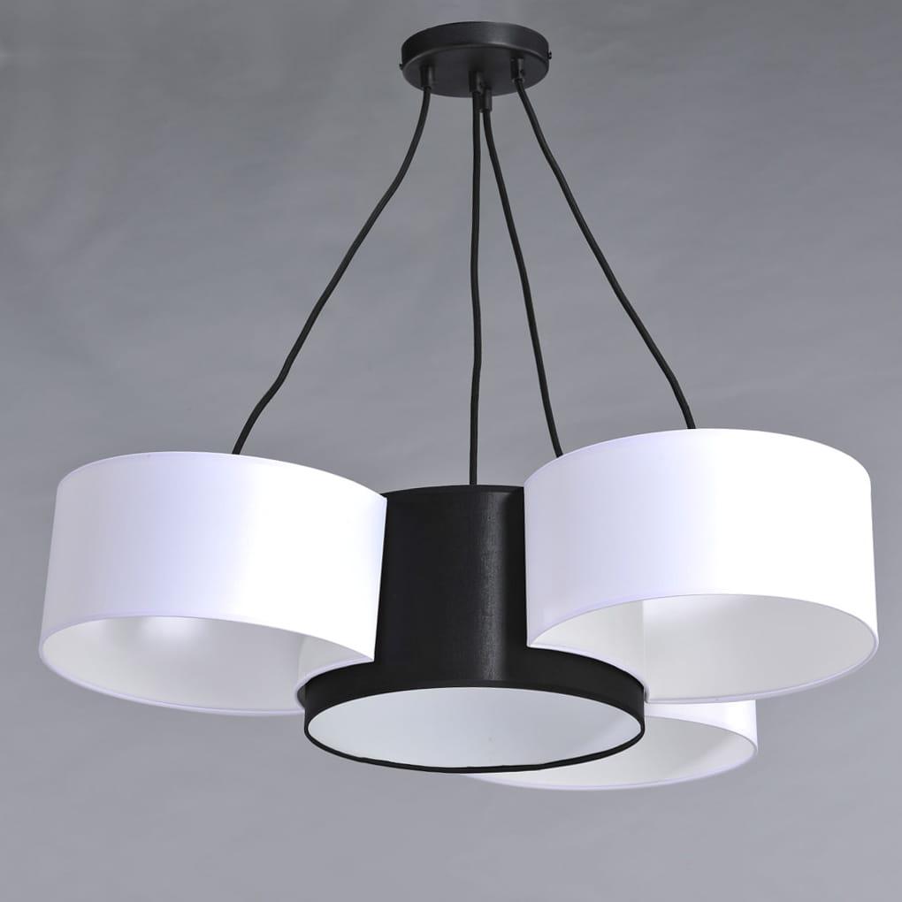 Lampa wisząca w stylu nowoczesnym z 4 dużymi abażurami BELLA 3708